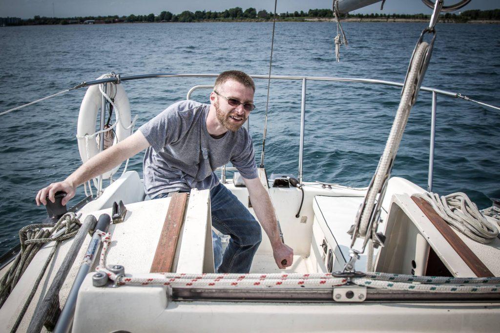 Zach Atkinson Sailing on Lake Ontario